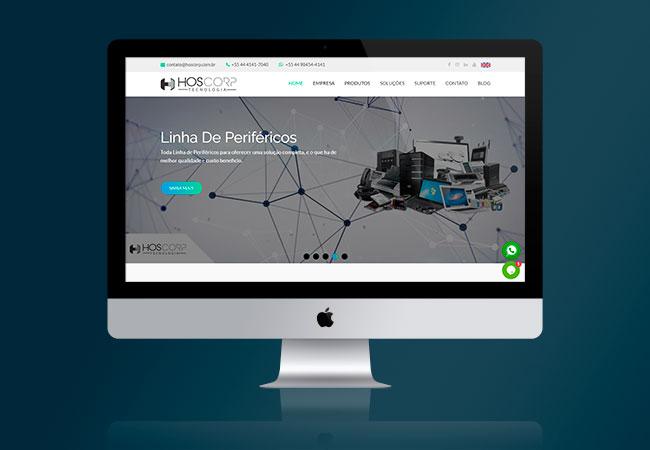 Layout do site Hoscorp Tecnologia
