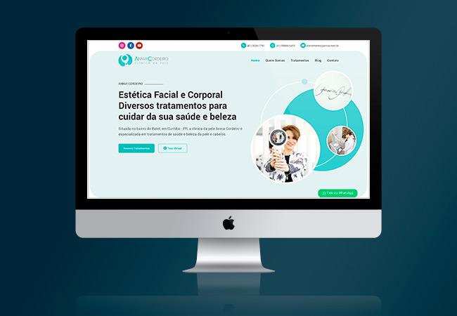 Layout do site Annia Cordeiro